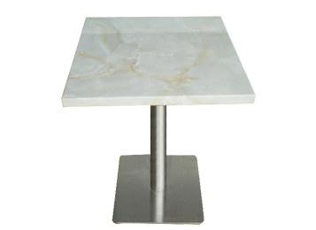 简约大理石台面小方桌