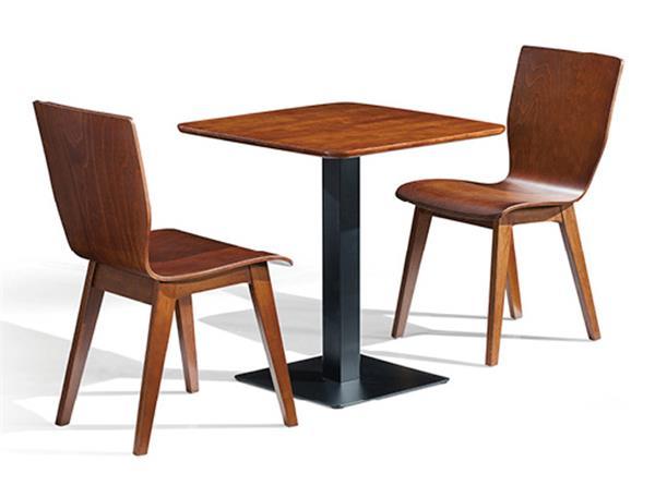 钱柜娱乐官方网站【首页】_正方形现代简约橡胶木钢脚柱式小桌子