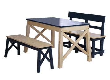 地中海现代简约餐桌椅组合
