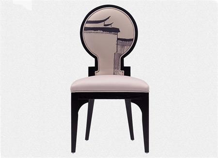钱柜娱乐网站_新中式实木餐椅现代简约布艺椅靠背椅