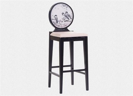 新中式休闲吧椅 中式吧台歺椅