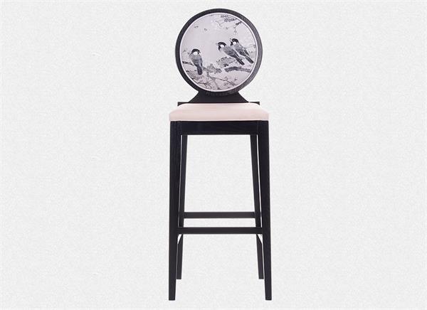 钱柜娱乐官方网站【首页】_新中式休闲吧椅 中式吧台歺椅(正面)