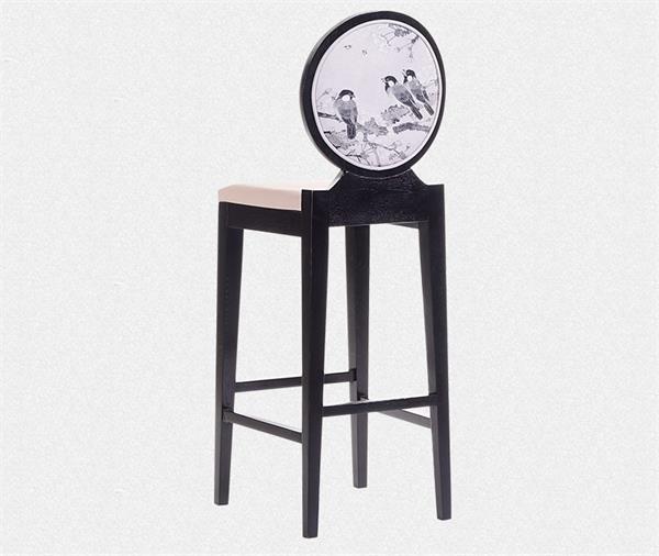 钱柜娱乐网站_新中式休闲吧椅 中式吧台歺椅(背面展示)