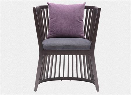 新中式实木休闲沙发椅单人扶手椅