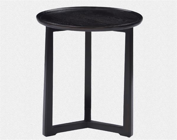 新中式现代中式实木圆茶餐桌
