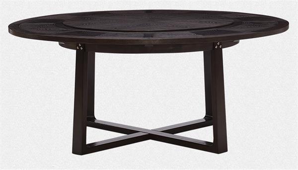 钱柜娱乐官方网站【首页】_新中式实木餐桌转盘圆桌展示