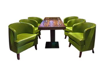 原石餐桌  高档实木餐桌餐椅