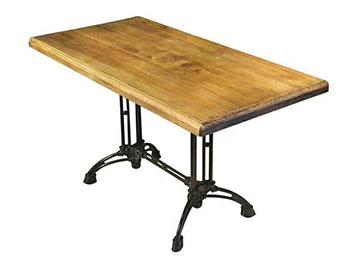 钱柜娱乐网站,钱柜娱乐官方网站_复古铁艺创意西餐厅实木桌