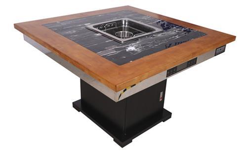 找厂家定做自助餐烤涮一体桌子多少钱?-海德利家具